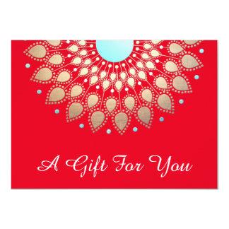 Salão de beleza de Lotus do ouro do feriado e Convite 11.30 X 15.87cm