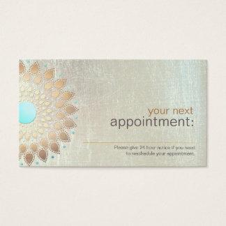 Salão de beleza de Lotus do ouro e cartão da