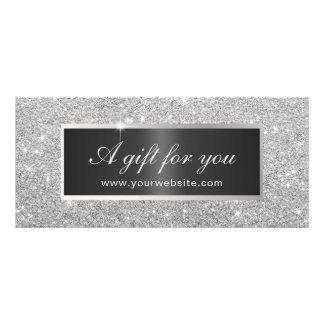 Salão de beleza de prata moderno do brilho dos 10.16 x 22.86cm panfleto