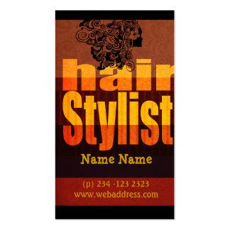 Salão de beleza do Hairstylist da tipografia Cartões De Visitas