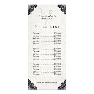 Salão de beleza do laço do preto do vintage do 10.16 x 22.86cm panfleto