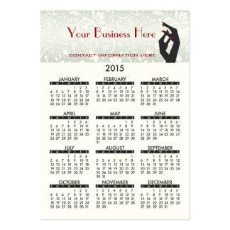 Salão de beleza do prego do calendário do cartão cartão de visita grande