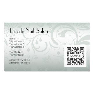 Salão de beleza do prego do modelo de cartão de cartão de visita