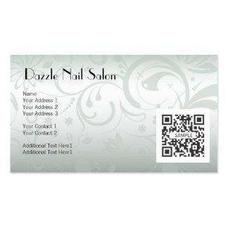 Salão de beleza do prego do modelo de cartão de ne cartão de visita