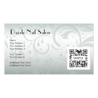 Salão de beleza do prego do modelo de cartão de ne cartoes de visitas