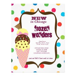 Salão de beleza do sorvete flyer 21.59 x 27.94cm