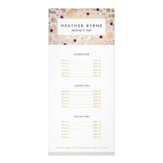 Salão de beleza do teste padrão dos círculos e dos 10.16 x 22.86cm panfleto