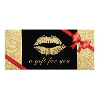 Salão de beleza dos lábios do brilho do ouro dos 10.16 x 22.86cm panfleto