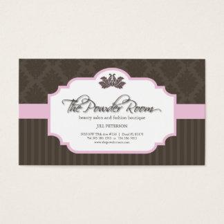 Salão de beleza e cartão de visita do boutique da