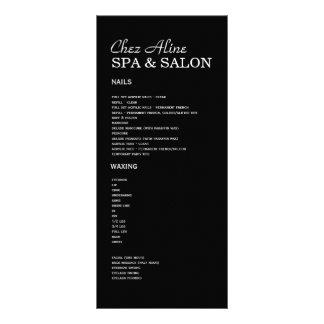 Salão de beleza e de tabela de preços & de cremalh 10.16 x 22.86cm panfleto