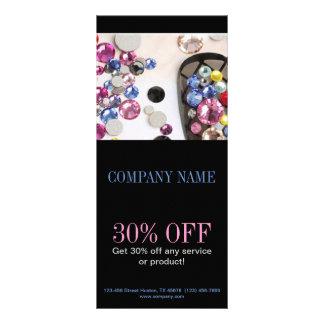 salão de beleza feminino moderno do prego da jóia panfleto informativo