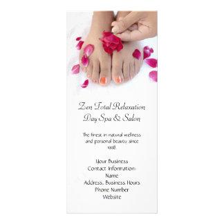 Salão de beleza fúcsia bonito do Pedicure do rosa  10.16 X 22.86cm Panfleto