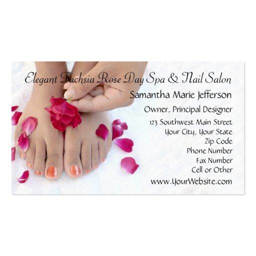 Salão de beleza fúcsia bonito do Pedicure do rosa  Modelo Cartoes De Visitas