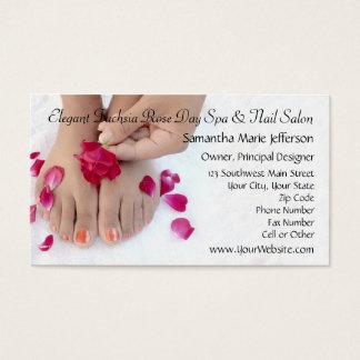 Salão de beleza fúcsia bonito do Pedicure do rosa Cartão De Visitas