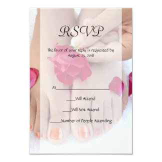 Salão de beleza fúcsia bonito do Pedicure do rosa Convites Personalizado