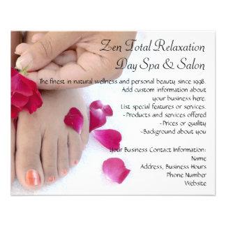 Salão de beleza fúcsia bonito do Pedicure do rosa Flyer 11.43 X 14.22cm