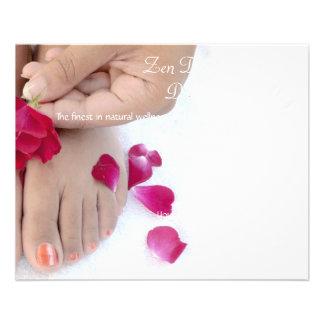 Salão de beleza fúcsia bonito do Pedicure do rosa Modelo De Panfletos