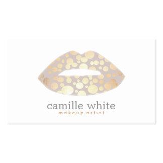 Salão de beleza legal do logotipo dos lábios do cartão de visita