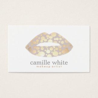 Salão de beleza legal do logotipo dos lábios do cartão de visitas