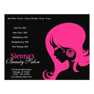 Salão de beleza (profundamente - rosa) modelos de panfleto