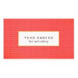 Salão de beleza subtil vermelho corajoso do teste  modelo cartão de visita