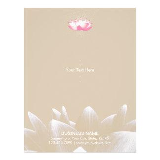 Salão de beleza & termas elegantes da flor de flyer 21.59 x 27.94cm