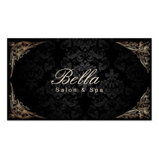 Salão de beleza & termas quadro florais à moda do  cartão de visita