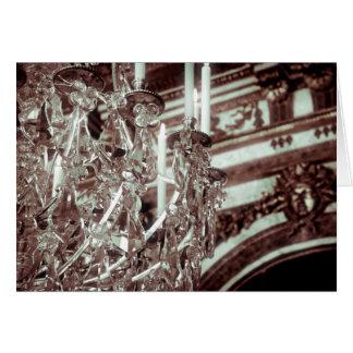 Salão do cartão do candelabro dos espelhos