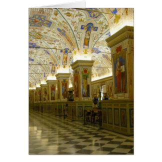 salão do museu do vaticano cartões
