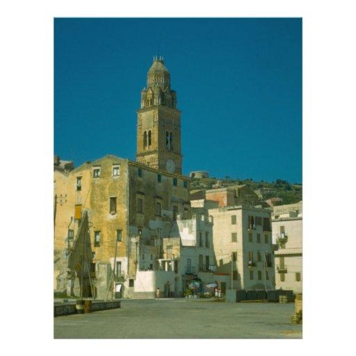 Salerno, igreja e cidade papéis de carta personalizados