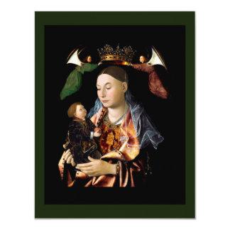 Salgando Madonna e a criança do cristo Convite 10.79 X 13.97cm