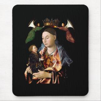 Salgando Madonna e a criança do cristo Mousepad