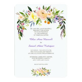 Salgueiro e convite formal floral do casamento