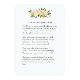 Salgueiro e inserção floral do casamento convite 8.89 x 12.7cm