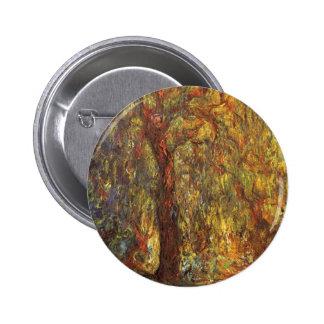 Salgueiro Weeping por Claude Monet, belas artes do Bóton Redondo 5.08cm