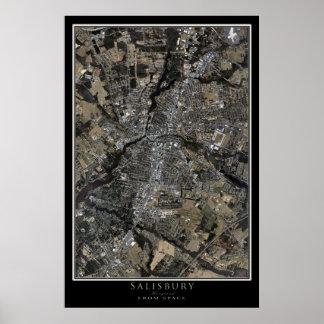 Salisbúria Maryland da arte do satélite do espaço Poster