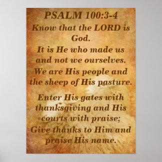 Salmo 100 pôster