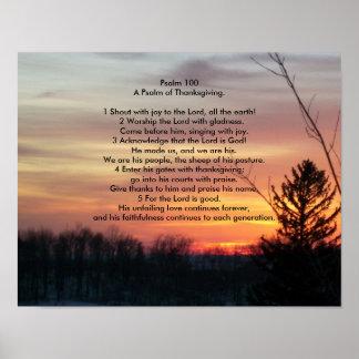 Salmo 100   um salmo da acção de graças pôster