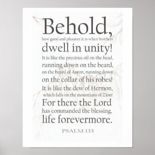 Salmo 133 posteres