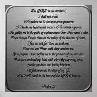 Salmo 23 - Aço Posters
