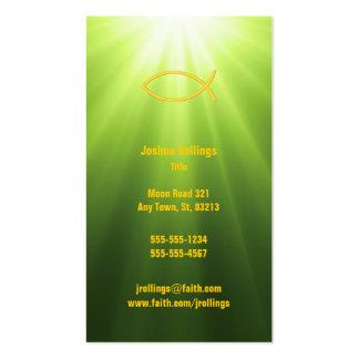 Salmo 23 - Cartão de visita verde cristão