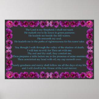 Salmo 23 com quadro do cacto de Cholla Posteres