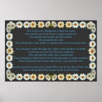 Salmo 23 com quadro do cacto do Saguaro Pôsteres