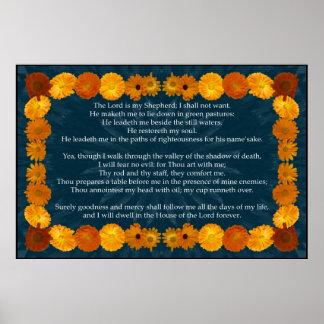 Salmo 23 com um quadro do Calendula