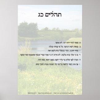 Salmo 23 no hebraico somente poster