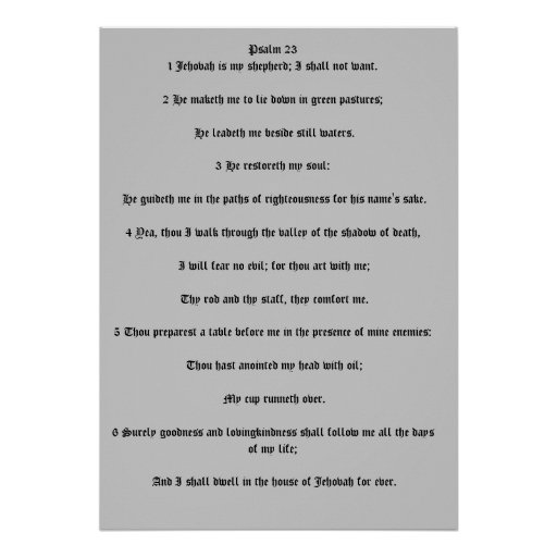 salmo 23 impressão