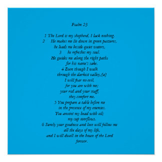 Salmo 23 poster perfeito