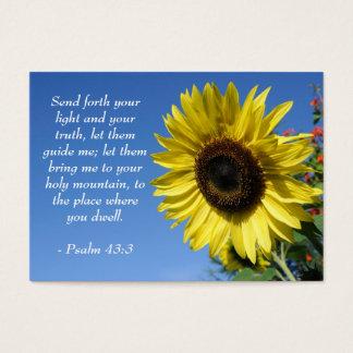 Salmo 43 - Citações inspiradas - cartão da