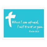 Salmo 56: Quando eu estou receoso eu confiarei em  Cartão Postal
