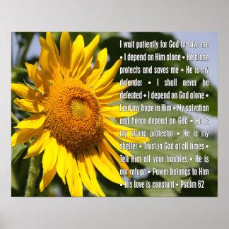 Salmo 62 - Confiança na proteção do deus Poster